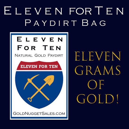 11 for 10 Paydirt Bag - 3 Pound Bag with 11 Grams of Gold