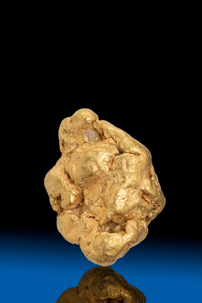 Oblong Faceted Natural Yukon Gold Nugget - 3.10 grams