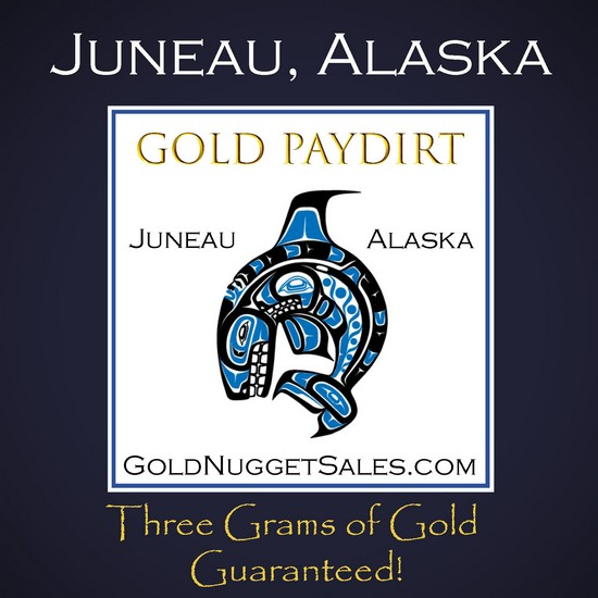 Our Best Seller - 3 Pound Gold Paydirt - Juneau, Alaska