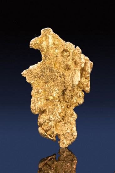 Chunky and Intricate Natural Gold Nugget from Alaska