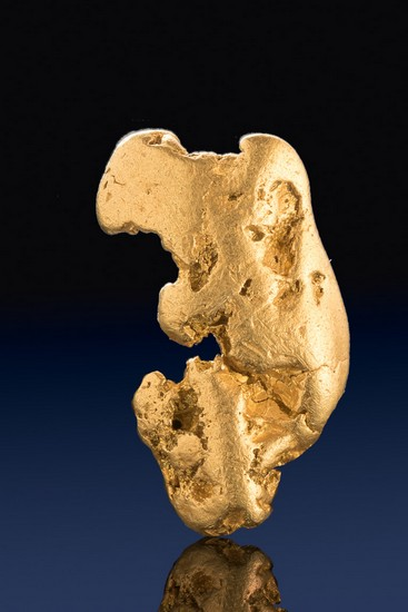 Smooth and Unique Form - Natural Alaska Gold Nugget