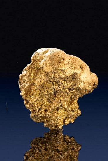 Chunky Boulder Type Natural Gold Nugget from Alaska