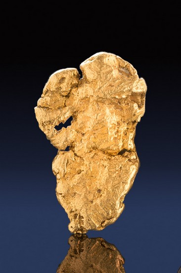 Thinner Natural Leaf Gold Nugget from Alaska