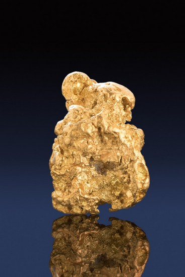 Crusty and Slightly Tapered - Natural Alaskan Gold Nugget