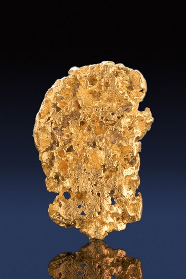 Unique Texture - Superb Natural Alaskan Gold Nugget