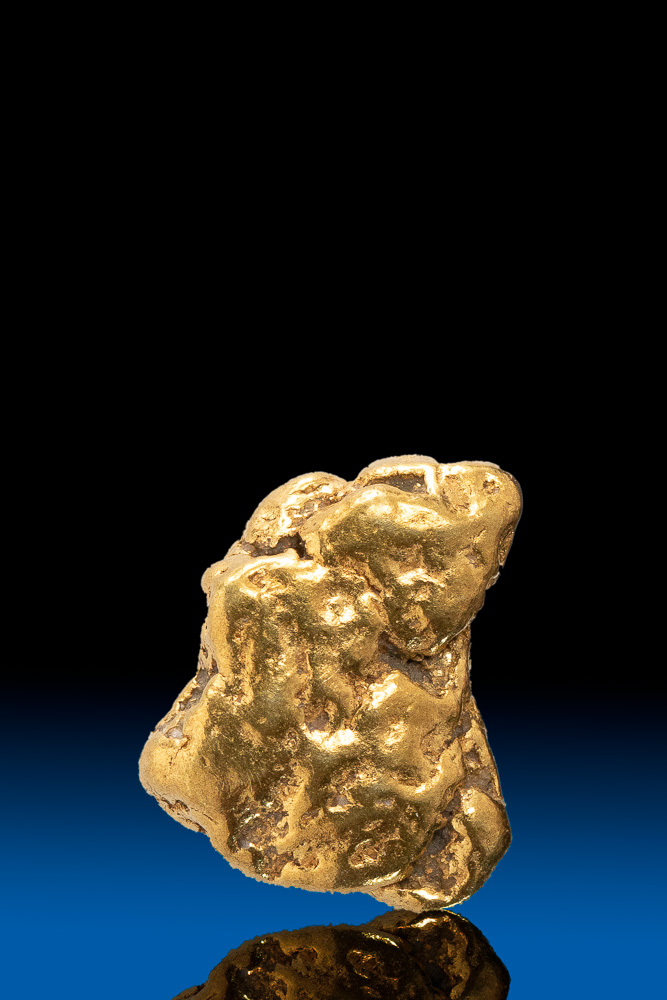Fat Natural Gold Nugget from Alaska - 2.44 grams