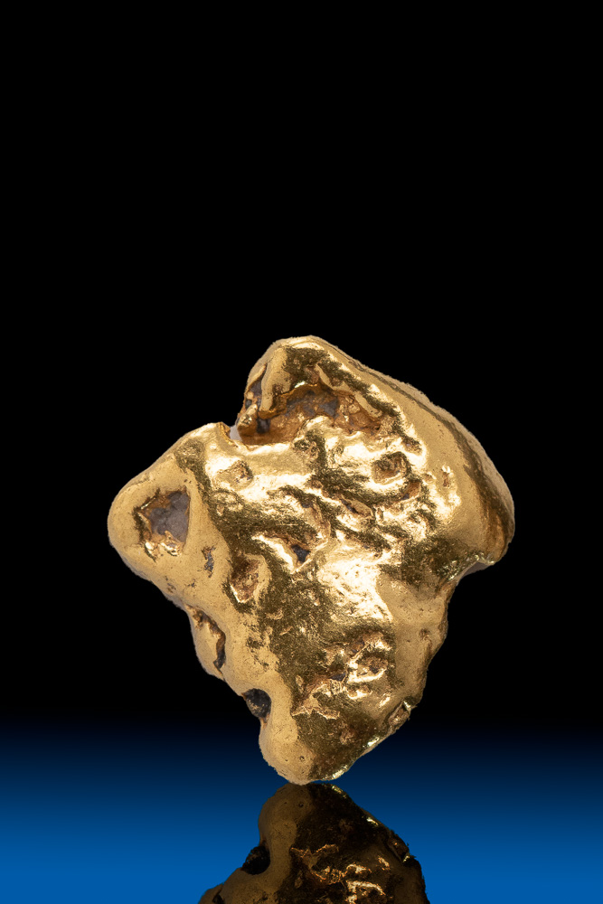 Square Shiny and Smooth Alaskan Natural Gold Nugget - 2.49 grams