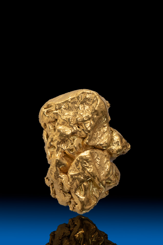 Oblong Shiny Alaska Natural Gold Nugget - 2.30 grams