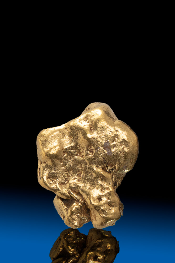 Rounded Smooth Natural Alaskan Gold Nugget - 2.70 grams