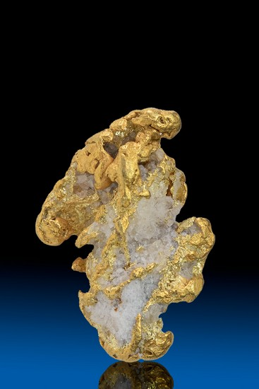 Long Rugged Alaska Gold with Quartz - 7.88 grams