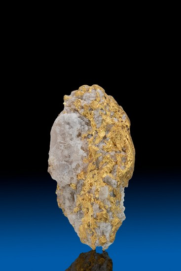 Long Quartz Infused Alaska Natural Gold Nugget - 2.90 grams