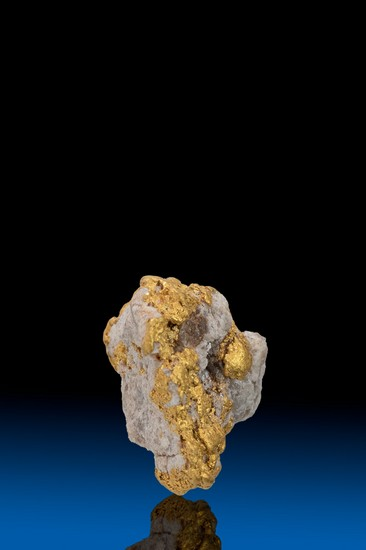 Gold with Quartz Alaska Natural Gold Nugget - 3.03 grams