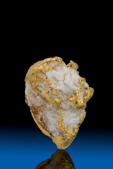 Quartz Wrapped with Gold Alaska Nugget - 3.63 grams