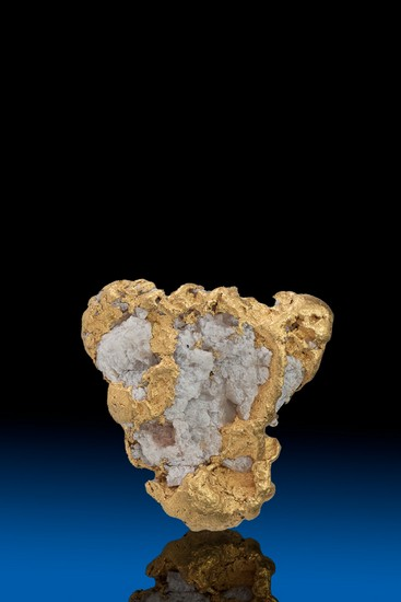 Triangle Shaped Quartz in Gold Alaska Nugget - 5.51 grams