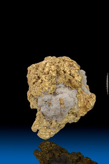 Gold Covers the Quartz in this Alaskan Gold Nugget - 4.21 grams