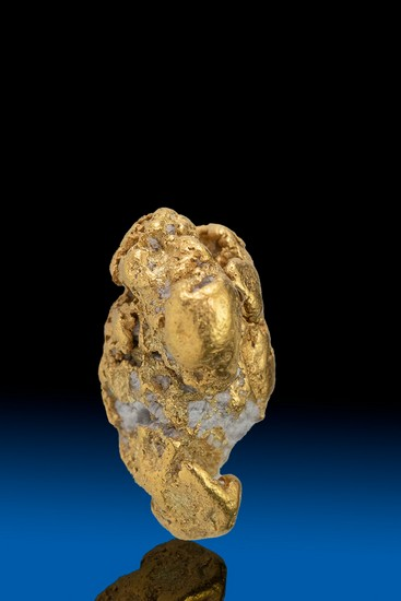 Interesting Shape Alaska Natural Gold w Quartz Nugget - 3.71 gra