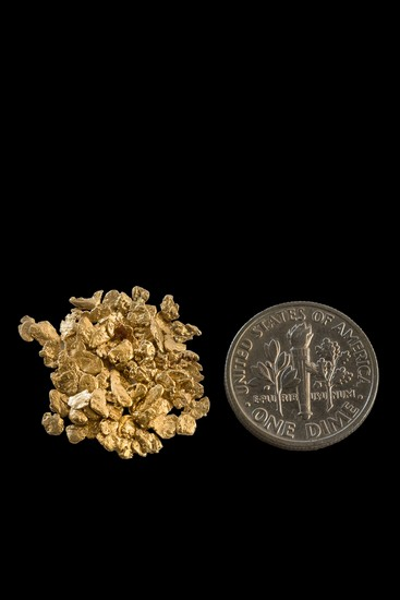 #12 Screen Alaska Gold Nuggets 30-50 Gold Nuggets per Gram