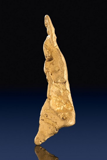 Extra Long Triangular Shaped Natural Gold Nugget from Australia