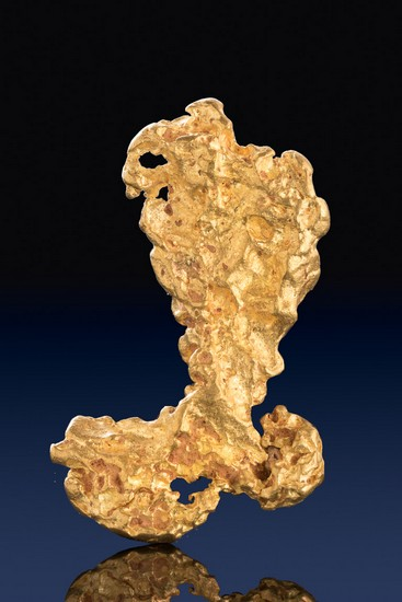 "Brilliant ""Boot Shaped"" Large Australian Gold Nugget"