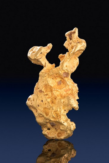 Natural Raw Gold Nugget Shaped Like a Duck and Dog