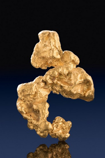 Intricate Shaped Natural Jewelry Grade Australian Gold Nugget