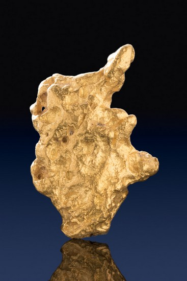 Elephant Shaped Australian Natural Gold Nugget - Jewelry Grade