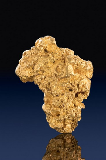 Jewelry/Investment Grade Gold Nugget with Eroded Gold Crystals