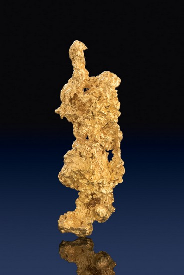 Elongated Crystalline Australia Gold Nugget