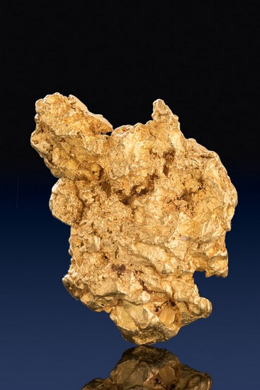 Very Rare Hoppered Gold Nugget with Gold Crystals