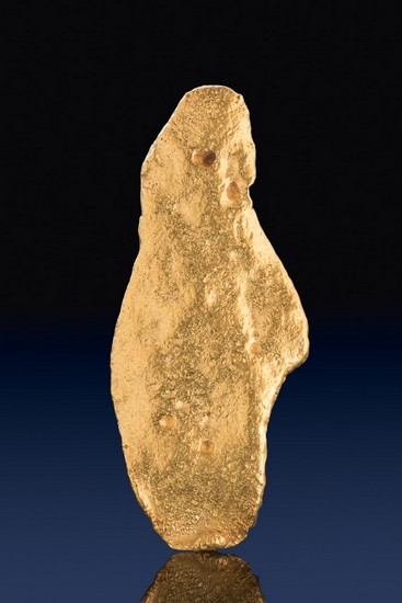 Large and Flat Jewelry Grade Natural Gold Nugget