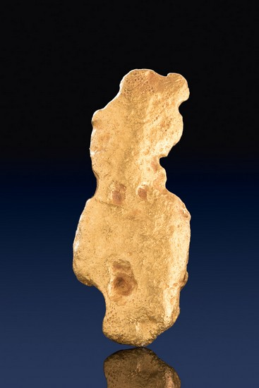 Natural Australia Gold Nugget - Beautiful Smooth Flat Nugget