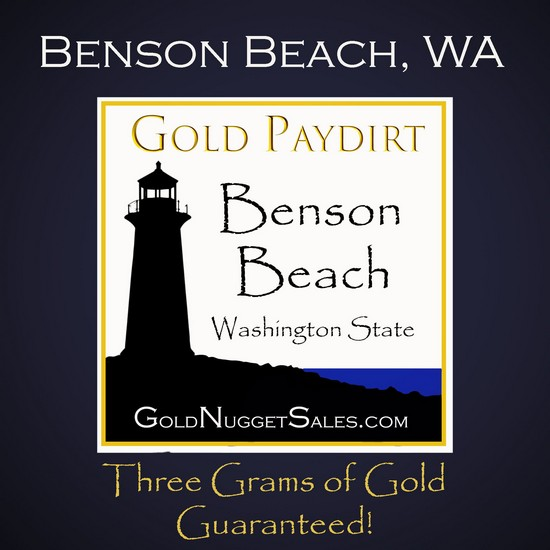 3 Pound Benson Beach Black Sand Concentrate Paydirt