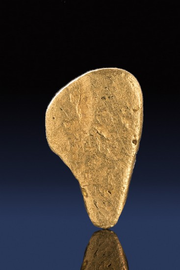 Oblong Shaped Natural Gold Nugget from California