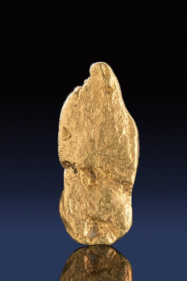 Oblong and Tapered to a Point - California Gold Nugget