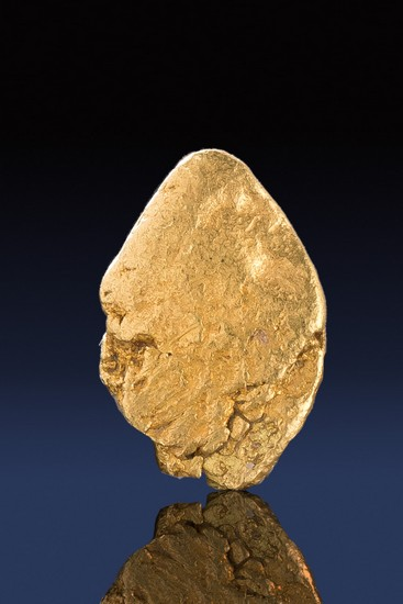 A Perfect Oval Shape - Natural California Gold Nugget