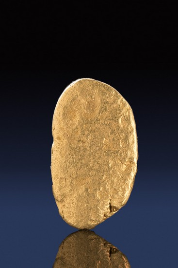 Thin and Smooth River Worn California Gold Nugget