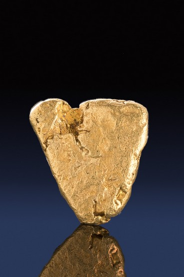 Heart Shaped Natural River Worn California Gold Nugget