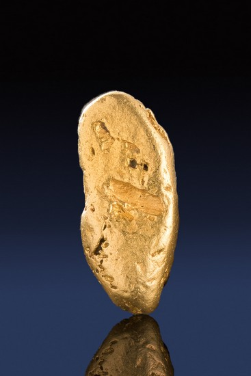 Long and Thick Natural California Gold Nugget