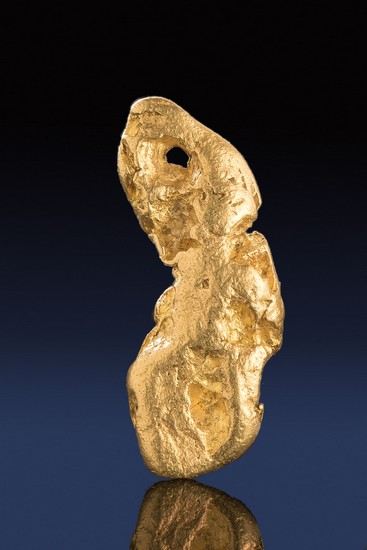 Long and Angled Natural California Natural Gold Nugget