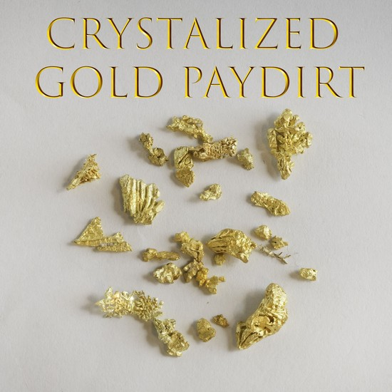 3 Pounds Rare Crystalized Gold Paydirt - 3 Grams Gold Guaranteed