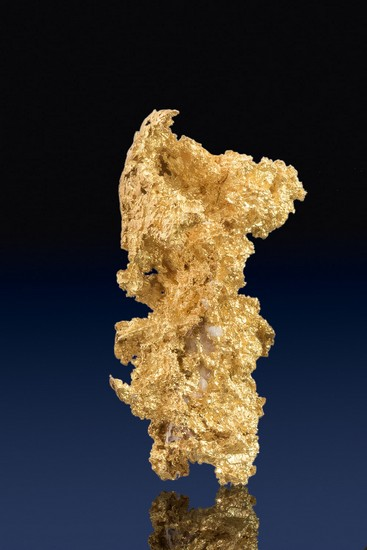 Recatangular Form - Natural Crystalline Gold Nugget - Mariposa