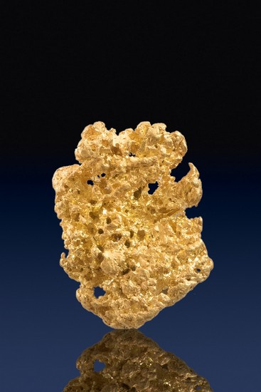 Well Formed and Rounded Natural Crystalline Gold Nugget