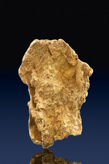 Superb and Thick Crystalline Leaf Gold Nugget - Eugene Mountains