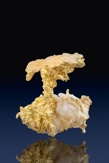 Unusual Shape - Natural Crystalline Gold Nugget - California