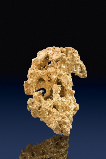 Well Formed and Intricate Natural Crystalline Gold Nugget