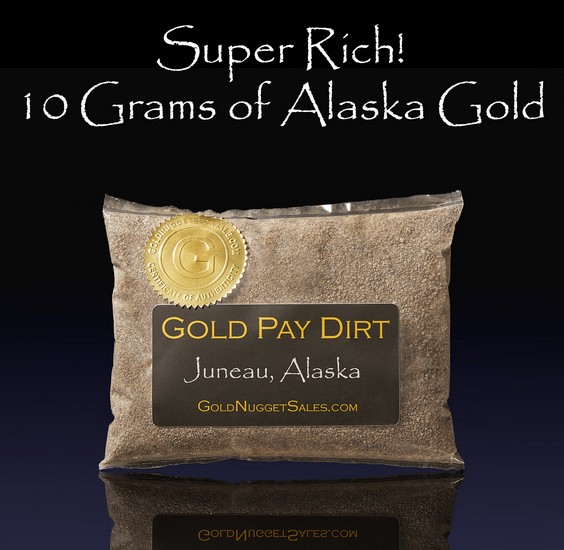 Super Rich Gold Paydirt - 1 Pound Bag with 10 Grams of Gold