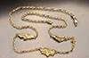 Perfect - Three Alaska Gold Nugget Necklace