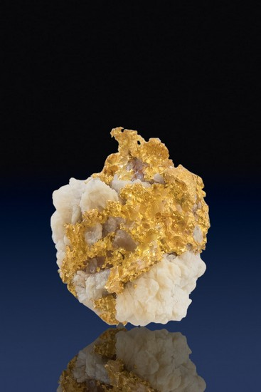 Crusty Crystalline Gold in White Quartz - California