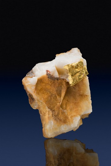 Leaf Gold on Quartz - Harvard Gold Mine