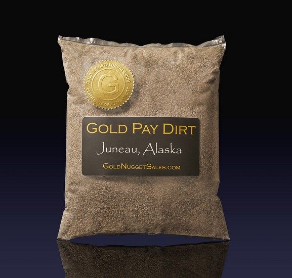 3 Pound Gold Pay Dirt - Juneau, Alaska